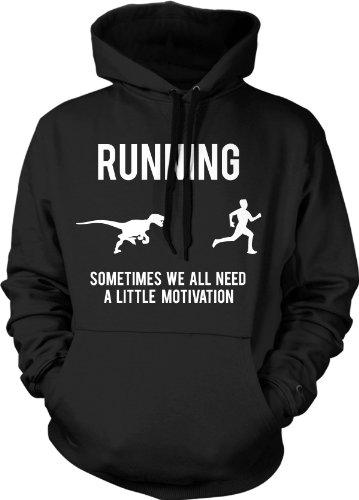 Running Motivation Raptor Hoodie Funny Dinosaur Sweatshirt Ford Runners L