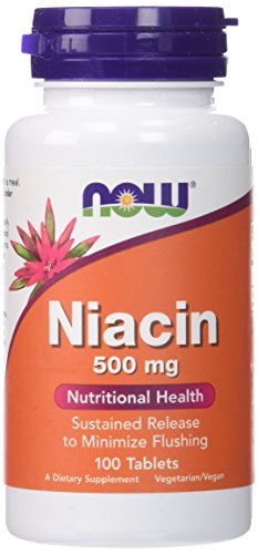 Now Foods Niacin Sustained Release 500 mg , 100 Tablets