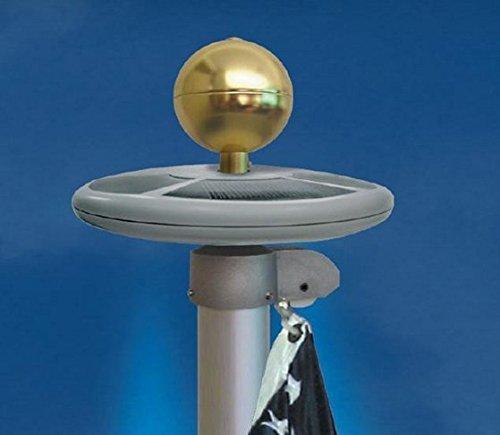 Signstek New Upgrade 20 Led 6 Solar Panel Downlight Solar Powered Flagpole Light