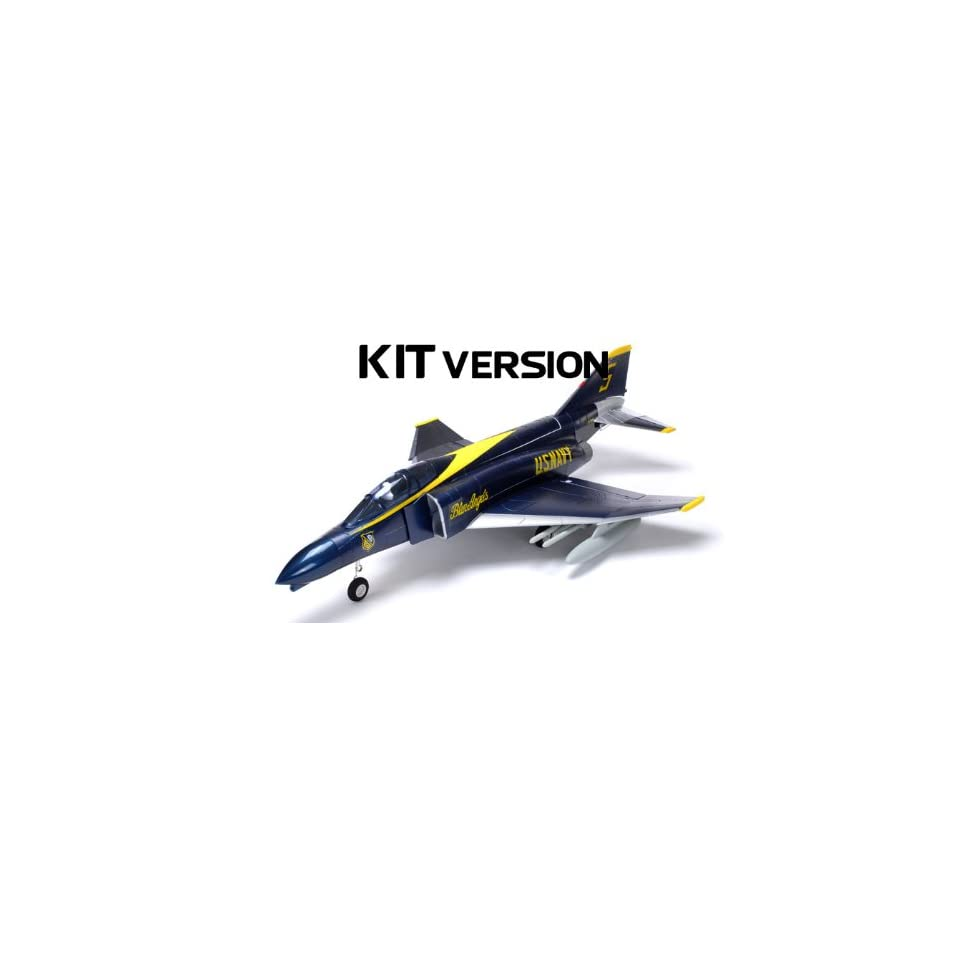 AirField F4 Electric Ducted Fan 70MM RC Jet KIT (Blue on PopScreen