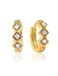 Mahi Eita Collection White Gold Plated Crystal Stones Hoop Earrings For Women-ER1100906G