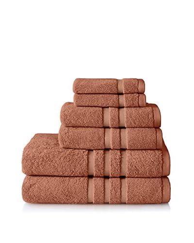 Chortex Irvington 6-Piece Towel Set, Coral