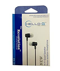 Hello -G RX-08 Hi-Fi Quad Speaker Universal Wired Headset With Japanese Technology