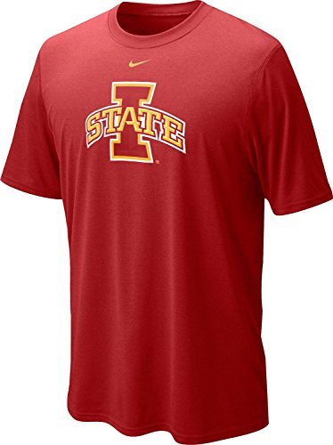 Nike Iowa State Cyclones Men's College Logo Legend Dri-FIT T-Shirt (Medium, Varsity Crimson Red)