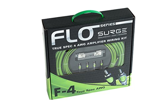 Surge F-4 Flo Series By Surge 4 Gauge 2000W AWG Amplifier Installation Wiring Amp Install Kit (2000 Watt Amp Wiring Kit compare prices)