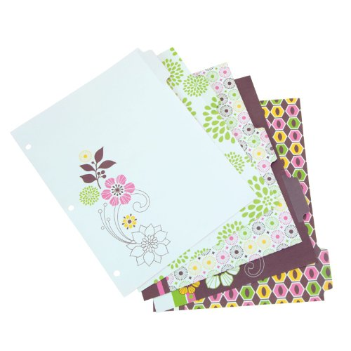 Wilson Jones WorkStyle Erasable-Tab Index Dividers, 5-Tab, Midori Style, Multi-Color (W31603) midori