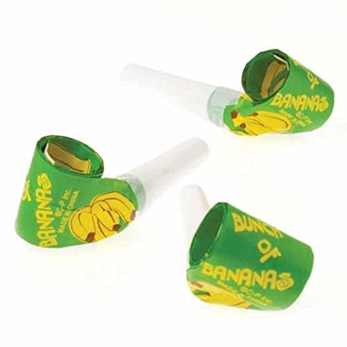 Dozen Banana Theme Blowouts Blowers Noisemakers - 1