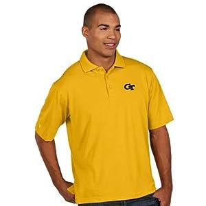 Georgia Tech Pique Xtra Lite Polo Shirt (Alternate Color) by Antigua