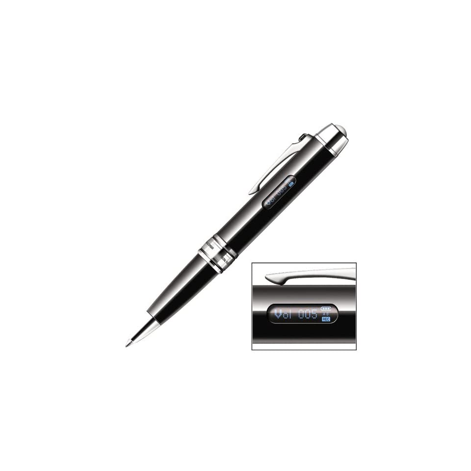 MemoQ PCM 007 588 Hour Pen Voice Recorder for PC & Mac