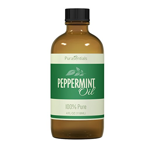 100% Pure Peppermint Essential Oil - Undiluted Super Strength 4 Oz Quantity! - 365 Day Money Back Guarantee! Fresh Aroma For Home, Office - Sooth Headaches, Migraines, Colds, Sinus, Nausea - Repellent For Mice, Rats, Rodents, Spiders, Ants, Bugs & Fleas.