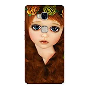 Enticing Tini Doll Multicolor Back Case Cover for Huawei Honor 5X