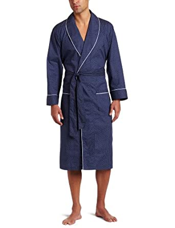 Amazon.com: Nautica Men's Woven Mediterranean Dot Robe, Peacoat, Large