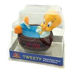 Vintage Looney Tunes Tweety Bird Alarm Clock