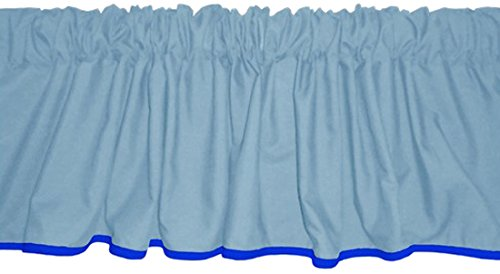 Baby Doll Reversible Window Valance, Light Blue/Royal Blue