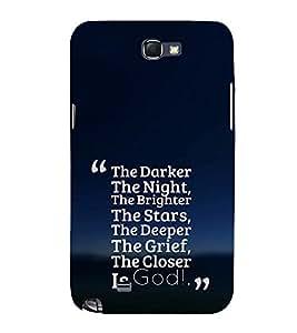 EPICCASE Closer the god Mobile Back Case Cover For Samsung Galaxy Note 2 (Designer Case)