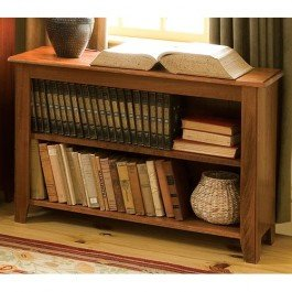 Shaker Low Bookcase Cherry Stain Shaker Low Bookcase