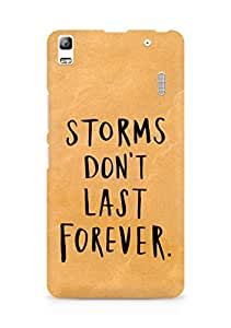 AMEZ storms dont last forever Back Cover For Lenovo A7000