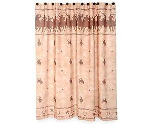 Hacienda Cowboy Western Themed Shower Curtain Bathroom Decor New