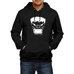 Fanideaz Men's Cotton Angry Smash Hulk Hoodies for Men (Premium Sweatshirt)_Black_S