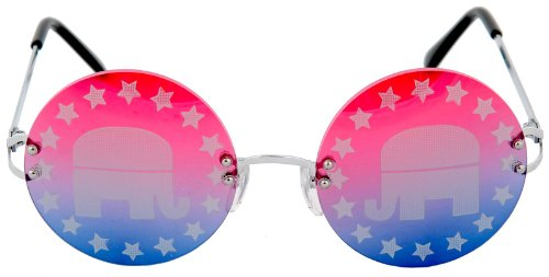Elope 221009 Republican Rimless Sunglasses [Toy]
