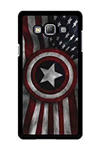 Caseque Captain America Flag Back Shell Case Cover For Samsung Galaxy A7