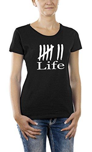 Touchlines Kontrast T-shirt - Schroedingers Cat Is Alive Girlie Ringer-T-shirt Donna,    verde x-large