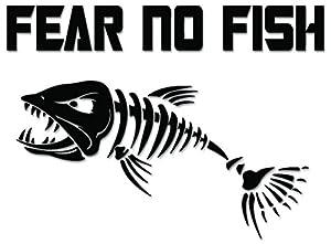 Fear no fish bone fishing vinyl decal sticker for Fear no fish