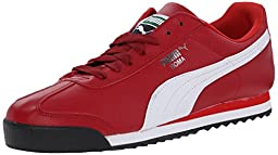 PUMA Men\'s Roma Basic Lace-Up Fashion Sneaker, Rio Red/White, 9.5 M US