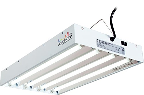 Agrobrite T5, 2 Foot, 4-Tube Fixture with Included Fluorescent Grow Lights