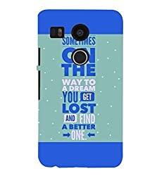 FUSON 3D Designer Back Case Cover for NEXUS5X D10082