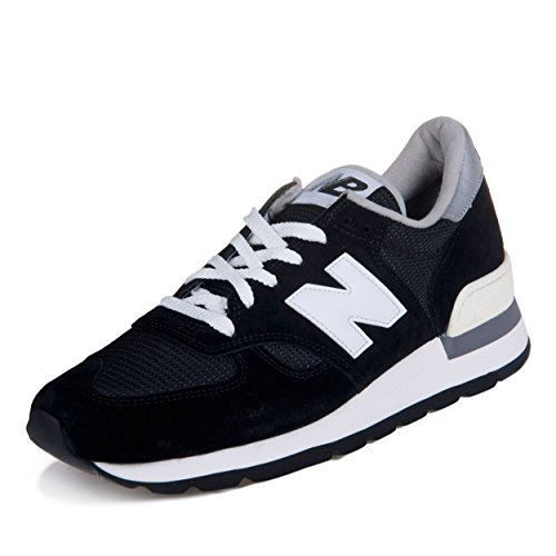 [ニューバランス]メンズNew Balance Men M990BLK - Made In USA Black (30CM) US Size 12 (黒)