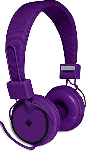 Polaroid Php8400Pu Powerful Bass Headphones For Iphone, Galaxy, Ipad And Android Purple