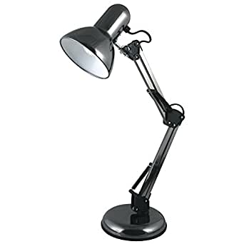 LLOYTRON Hobby Desk Lamp Adjustable 40W Reach 350mm H560mm Black Ref L946BH