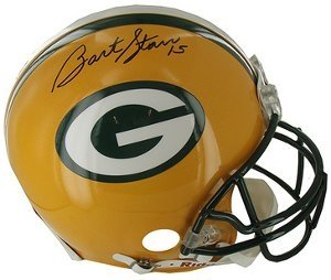 Bart Starr Autographed Hand Signed Green Bay Packers Full Size Proline Helmet-... by Hall of Fame Memorabilia