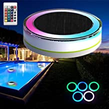 Generic Remote Control Solar Power Led Colorful Swimming Pool Light Garden Waterproof Floating Lamp