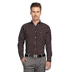 British Line Black Color striped Slim Fit shirt