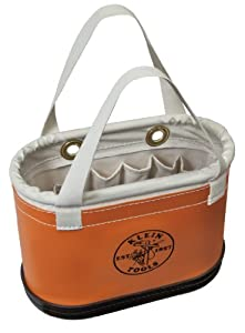 Klein Tools 5144BHHB Hard-Body Oval Bucket with Handles by North Coast Electric