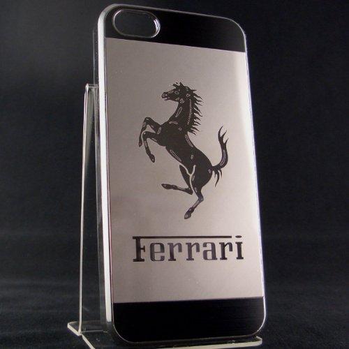 日本未発売 iphone5 アイフォン5 専用 バックパネル アルミ ケース カバー フェラーリ ミラーロゴ