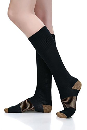 ComfortGear Performance Enhancing Therapeutic Full Length Compression Socks, 10-20 mmHg, Anti-fatigue, Graduated Compression Action (9-11 Men's/10-12 Women's) (Full Length Compression Stockings compare prices)