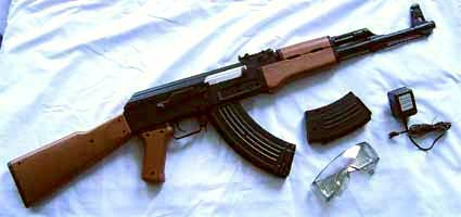 Ak 47 Style Airsoft Electric Gun Completed Kit with magazine & BB