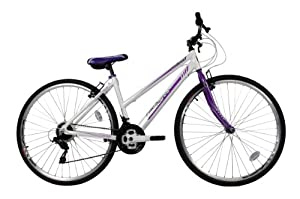 Falcon Women's Modena Hybrid Bike - (White/Purple, 12+ Years, 17 Inch, 27.55 Inch) from Falcon