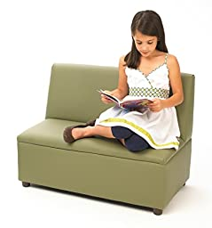 Brand New World Modern Casual Enviro-Child Upholstery Sofa - Sage