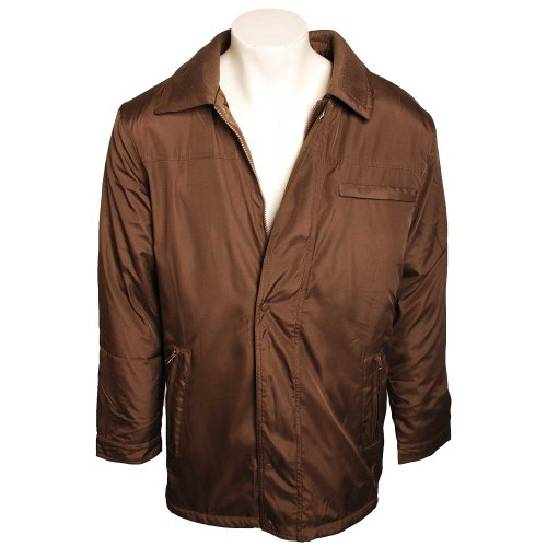 Harbour Bay Mens Brown Jacket with Faux Fur Lining in Size 3XL