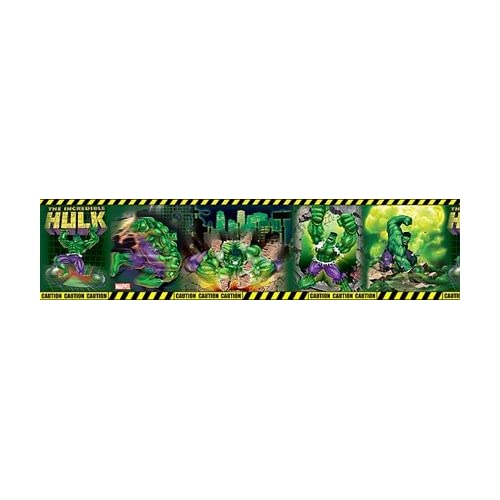 Incredible Hulk Wall Border 6 in x 3.3 yd per roll