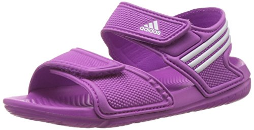 adidasAkwah 9 - Sandali Unisex - Bambini , Rosa (Rose (Flash Pink/Ftwr White/Flash Pink)), 28