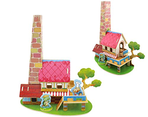 Thinkmax 3D Wooden Puzzle-A Series Of Houses In Fairy Tale - Restaurant-Educational Games For Kids / 3D Puzzles For Adults front-1068910