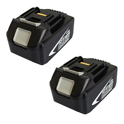 41TVLdObFnL - BEST BUY #1 2x Makita replacement 18V 4.0Ah LXT Li-ion battery for Makita BL1830 BL1815