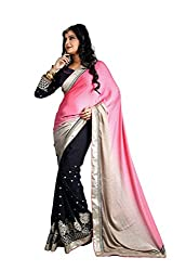 Bikaw Embroidered Pink Jacquard Party Wear Saree - BT-1205-A5