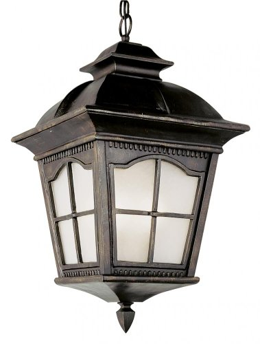 One Light Frosted Glass Antique Rust Hanging Lantern one light frosted glass antique rust hanging lantern