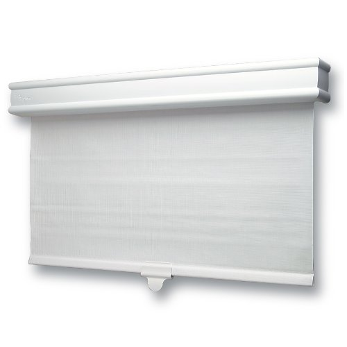 Delightful Skotz 24.27 By 72 Inch Vinyl Roller Shade With Decorative Valence
